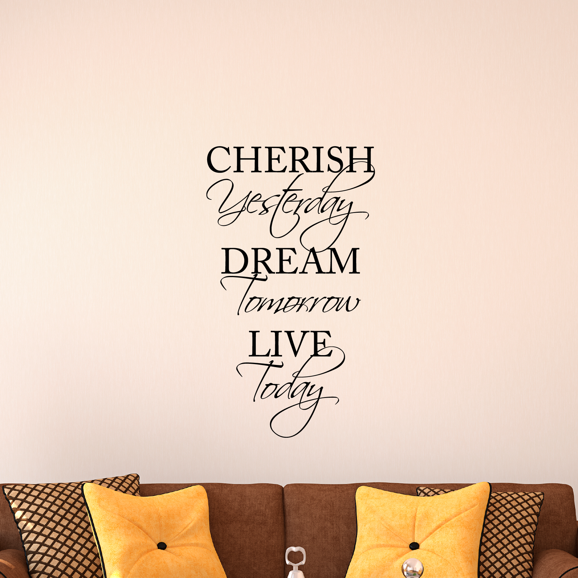 Cherish Yesterday Dream Tomorrow Live Today Wall Quotes Decal