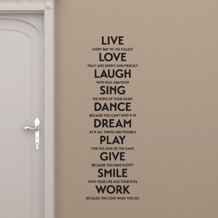 Live Love Laugh Quote Pleasing Live Love Laugh Sing Etcwall Quotes™ Decal  Wallquotes