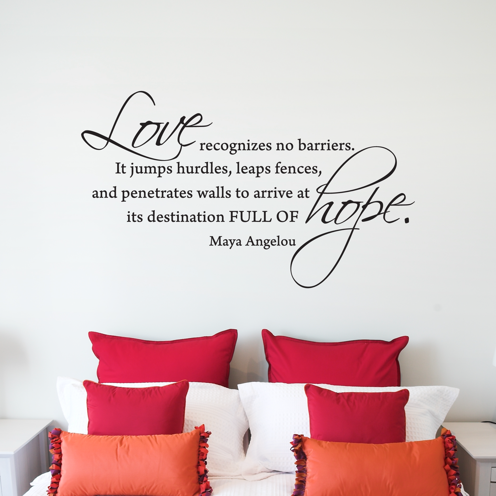 Love Quotes Maya Angelou Love Recognizes No Barriers Wall Quotes™ Decal  Wallquotes