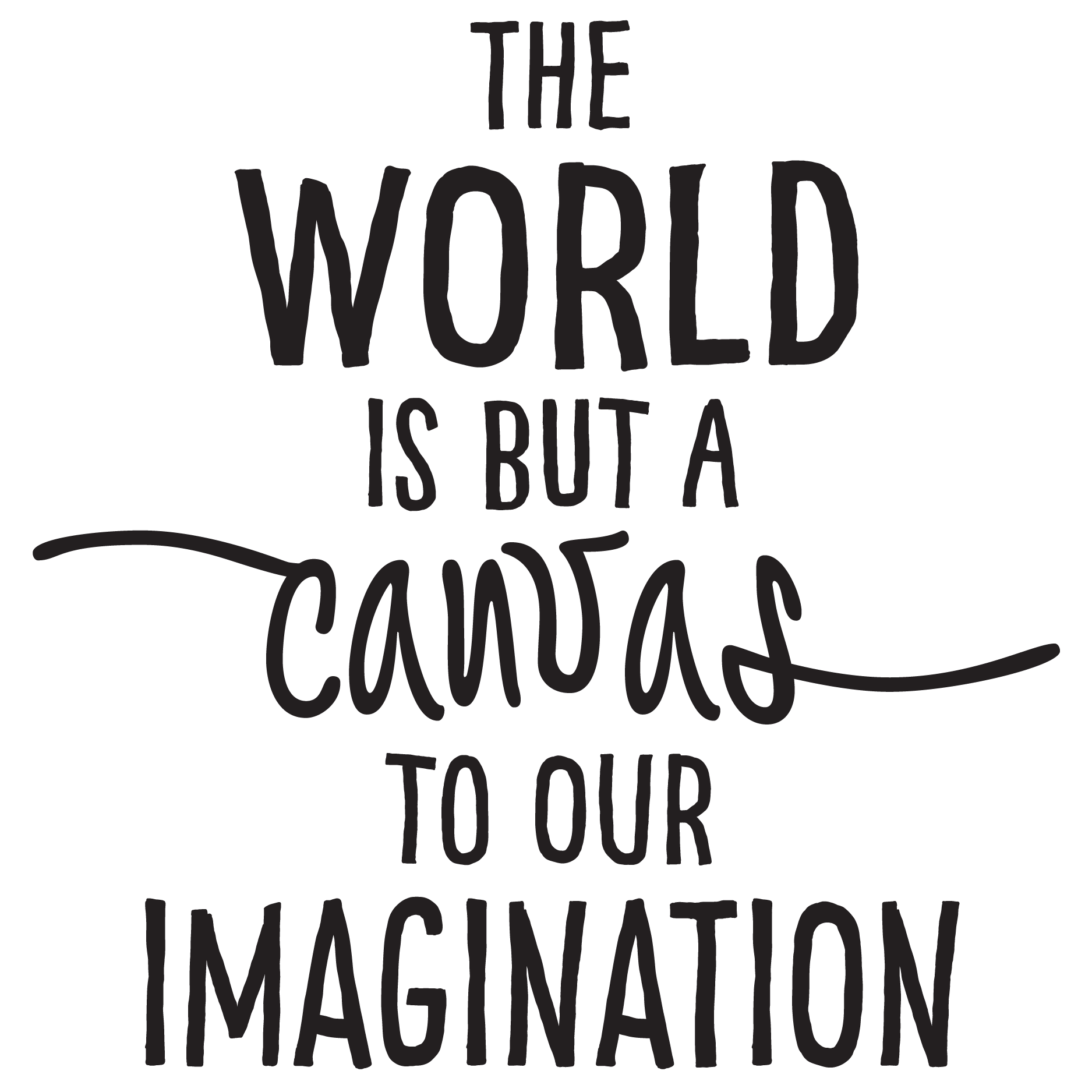 World Canvas Our Imagination Wall Quotes Decal
