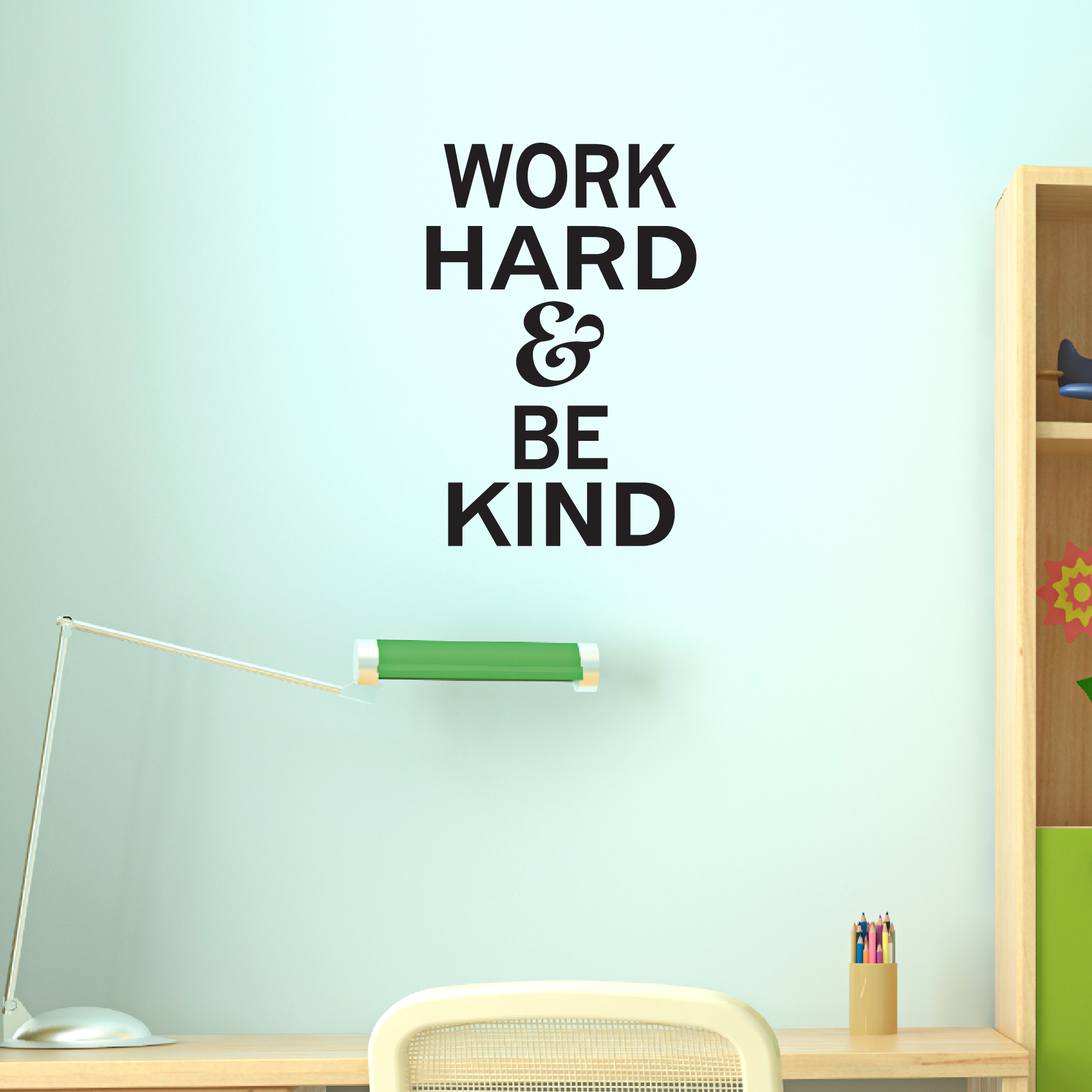 Work Hard & Be Kind Wall Quotes™ Decal   WallQuotes.com