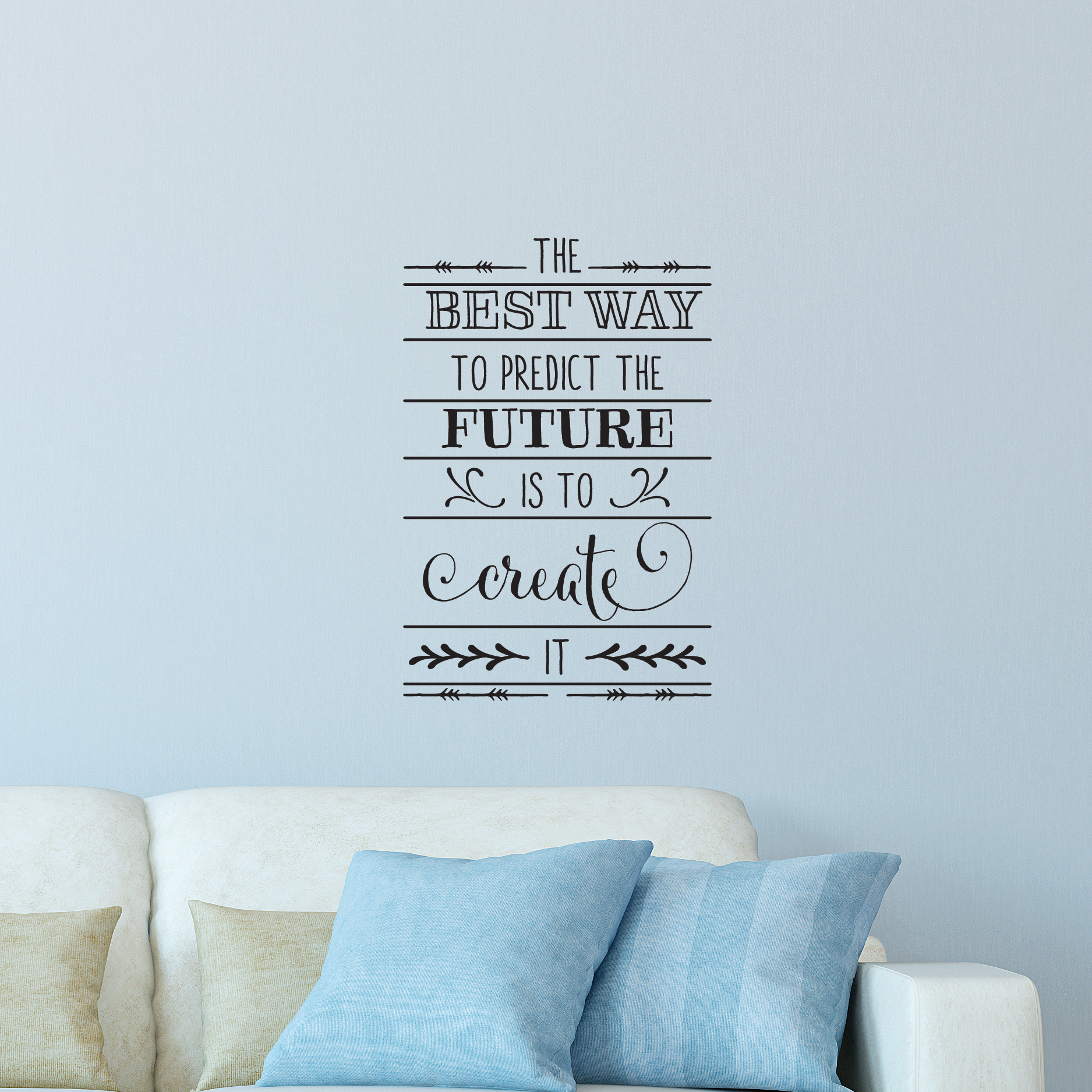 Create the future wall quotes decal wallquotes the best way to predict the future is to create it amipublicfo Gallery