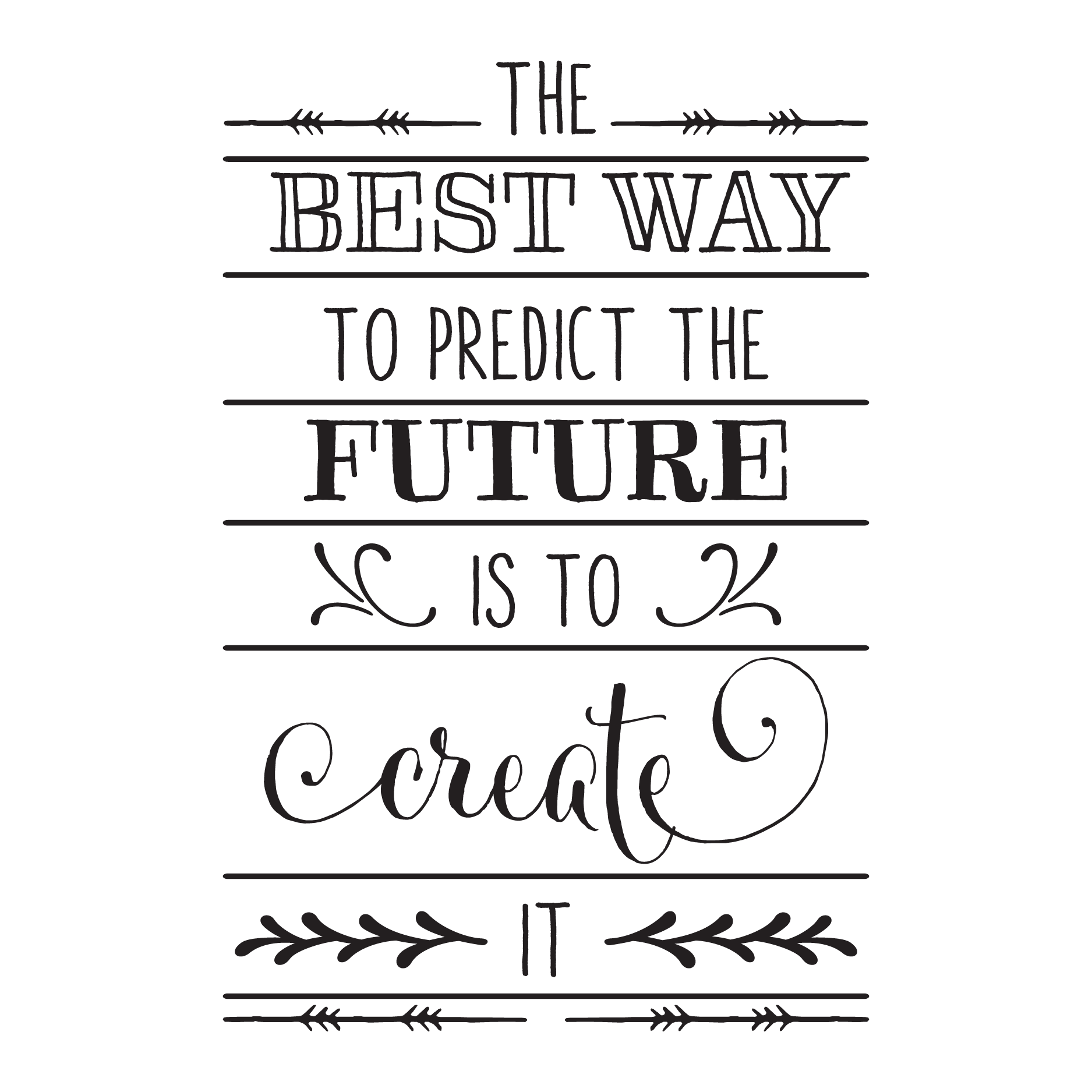 Create The Future Wall Quotes™ Decal