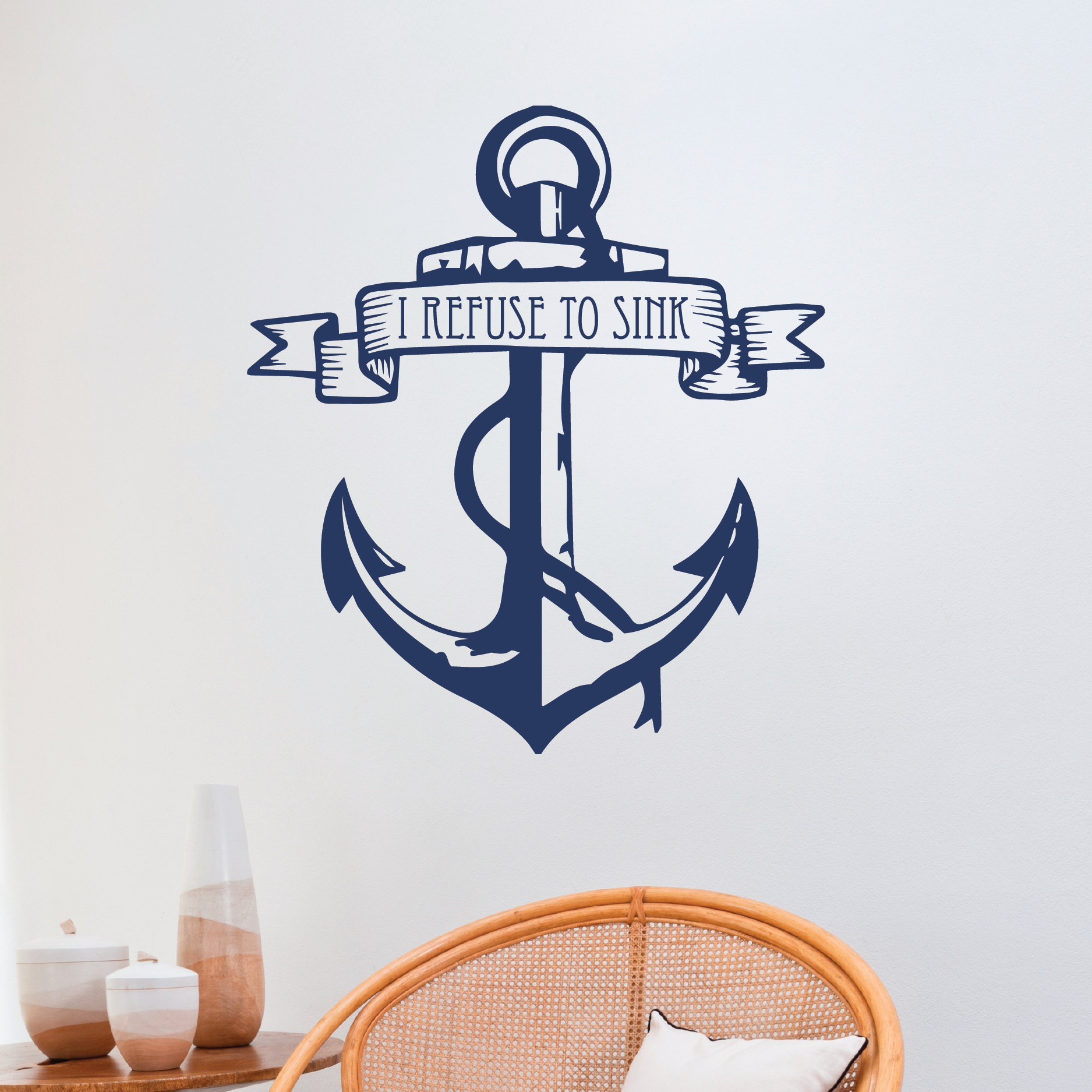 I refuse to sink anchor wall quotes decal wallquotes i refuse to sink anchor amipublicfo Image collections