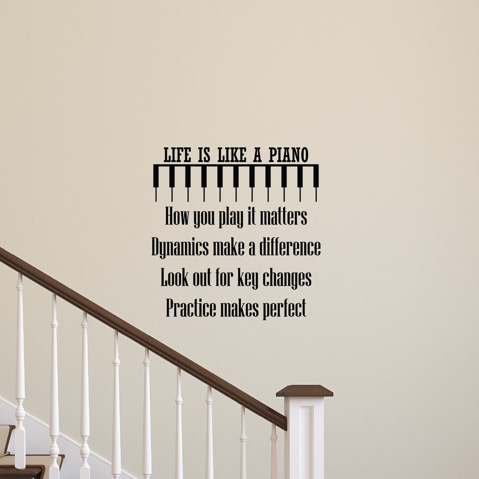 Life Is Like A Piano Wall Quotes™ Decal