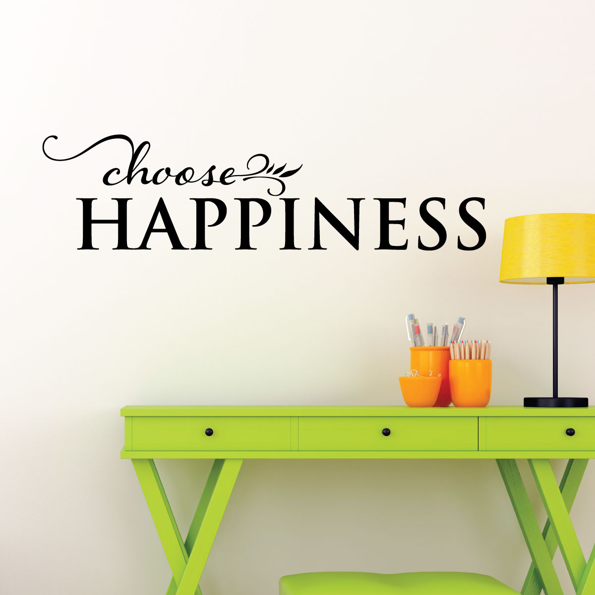 Choose Happiness Wall Quotes Decal