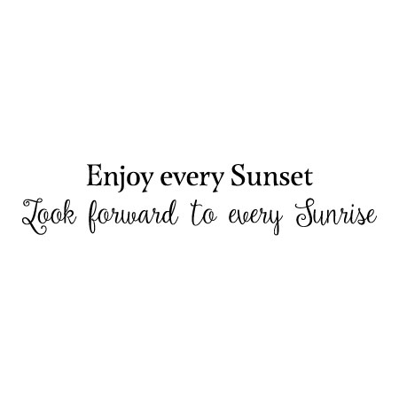 enjoy every sunset wall quotes™ decal | wallquotes