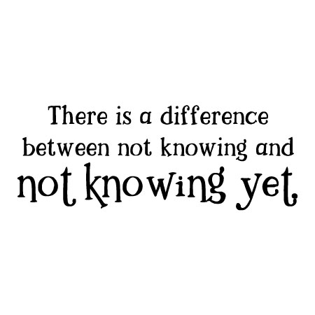 Not Knowing Yet Wall Quotes Decal Wallquotescom