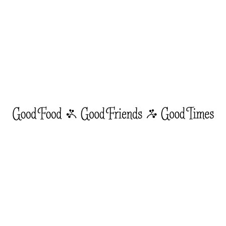 Good Food Good Friends Whimsical Wall Quotes Decal Wallquotescom