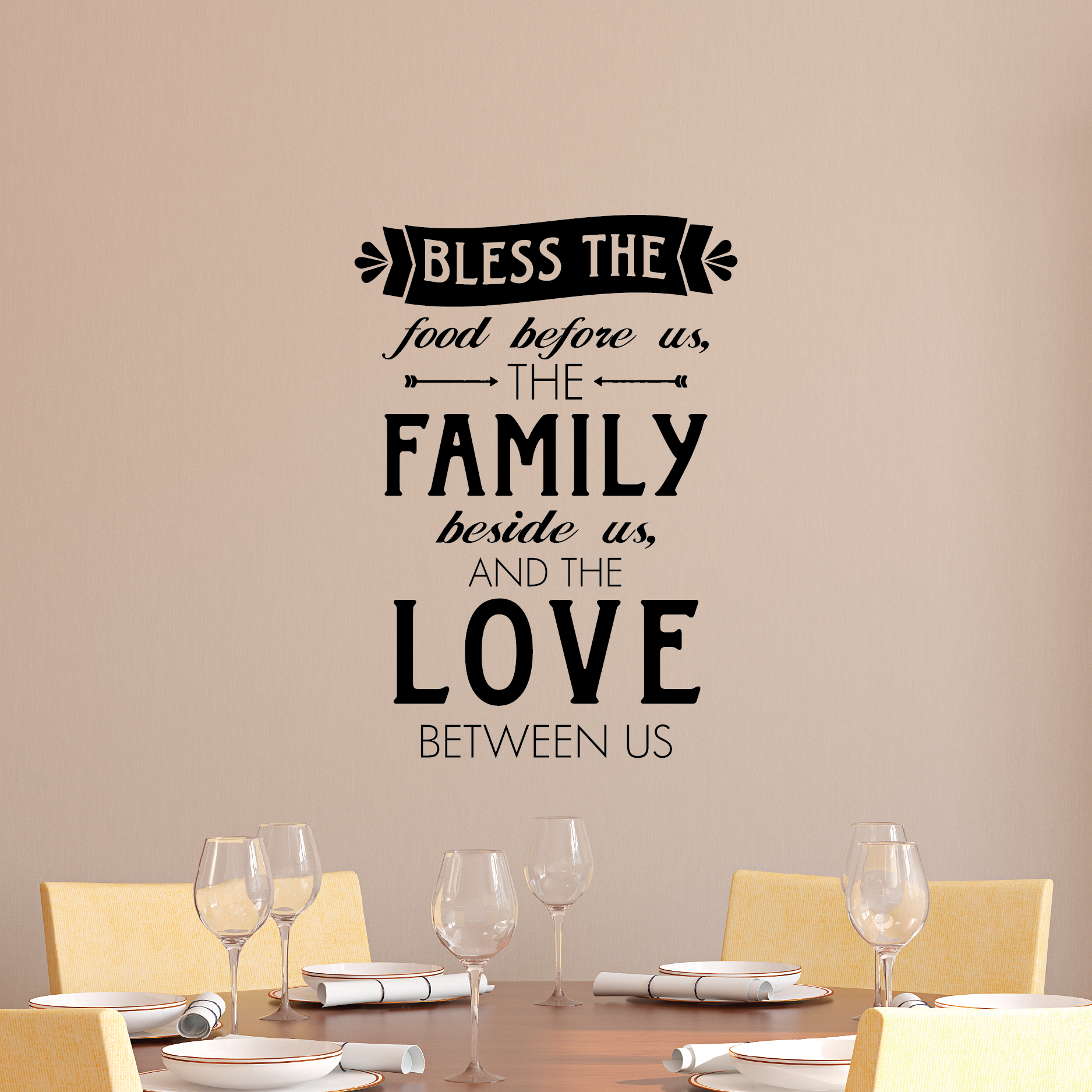 Love Wall Quotes Whimsy Bless Food Family Love Wall Quotes™ Decal  Wallquotes