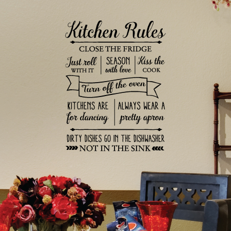 Kitchen Rules Wall Quotes Decal Wallquotes Com