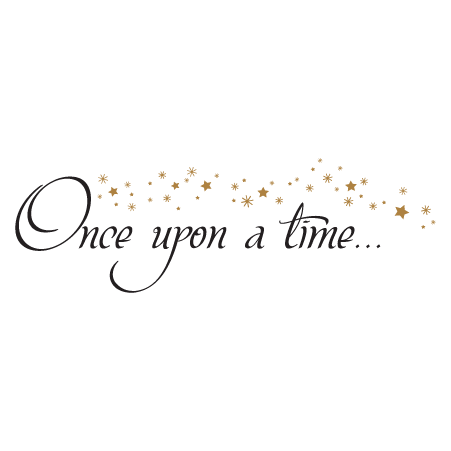 Once Upon A time Stars Wall Quotes™ Decal | WallQuotes.com