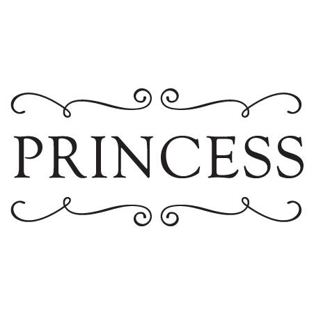 Princess Scrolls Wall Quotes Decal