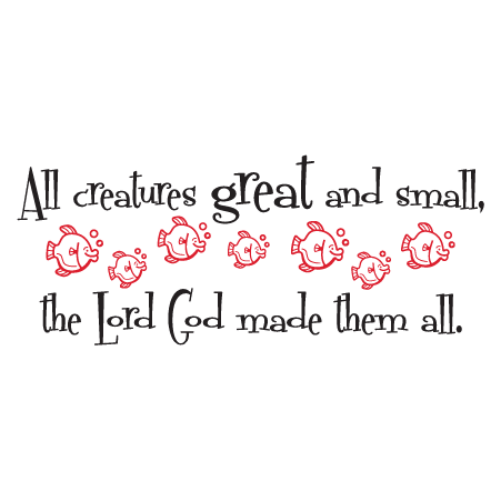 Great Small Quotes Entrancing All Creatures Great & Small Wall Quotes™ Decal  Wallquotes