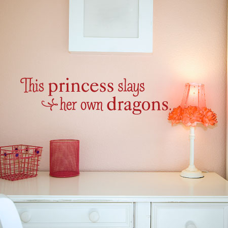 Slays Her Own Dragons Wall Quotes™ Decal | WallQuotes.com