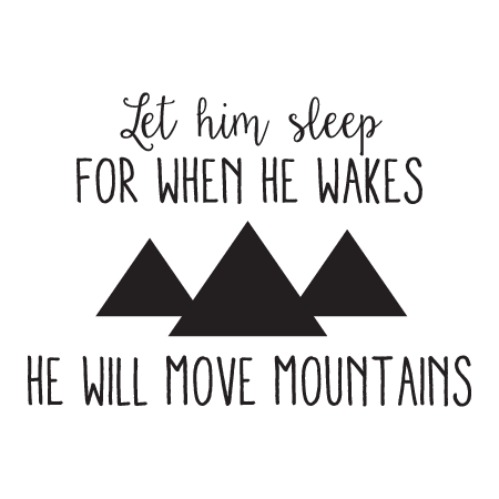 Let Him Sleep Whimsical Wall Quote Decal Wallquotes Com