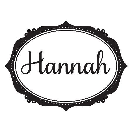 custom name and sweet frame wall decal - Name Frame