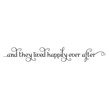 Happily Ever After Swirly Wall Quotes Decal Wallquotescom