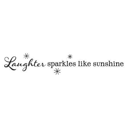 Laughter Sparkles Wall Quotes Decal Wallquotes Com