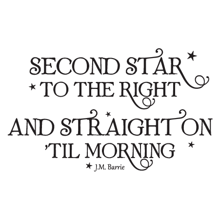 Second Star to the Right Whimsical Wall Quotes™ Decal ...