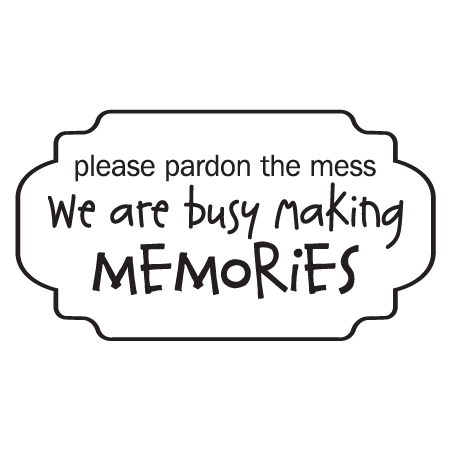 Pardon The Mess Frame Wall Quotes™ Decal | WallQuotes.com