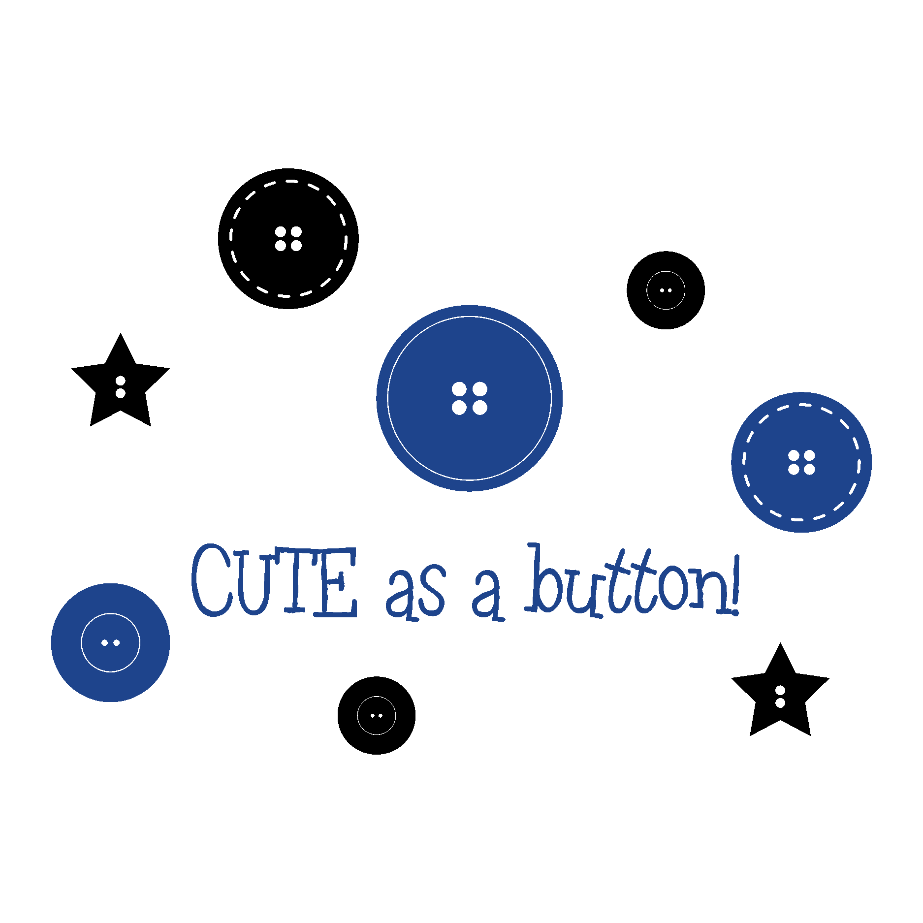 Cute As A Button Boys Wall Qutoes Decal Wallquotes Com