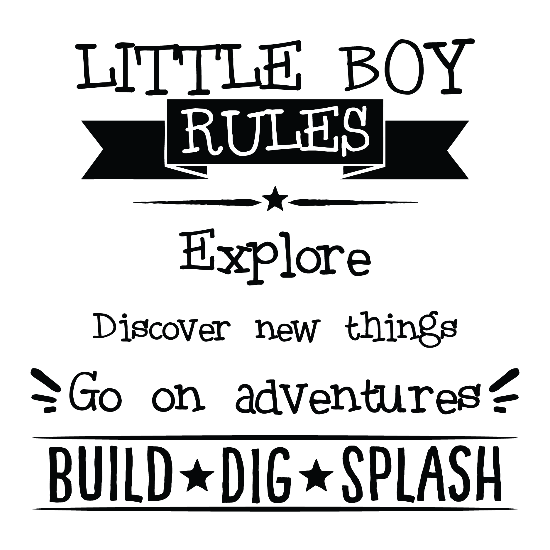 Quotes Kids Little Boy Rules Wall Quotes™ Decal  Wallquotes