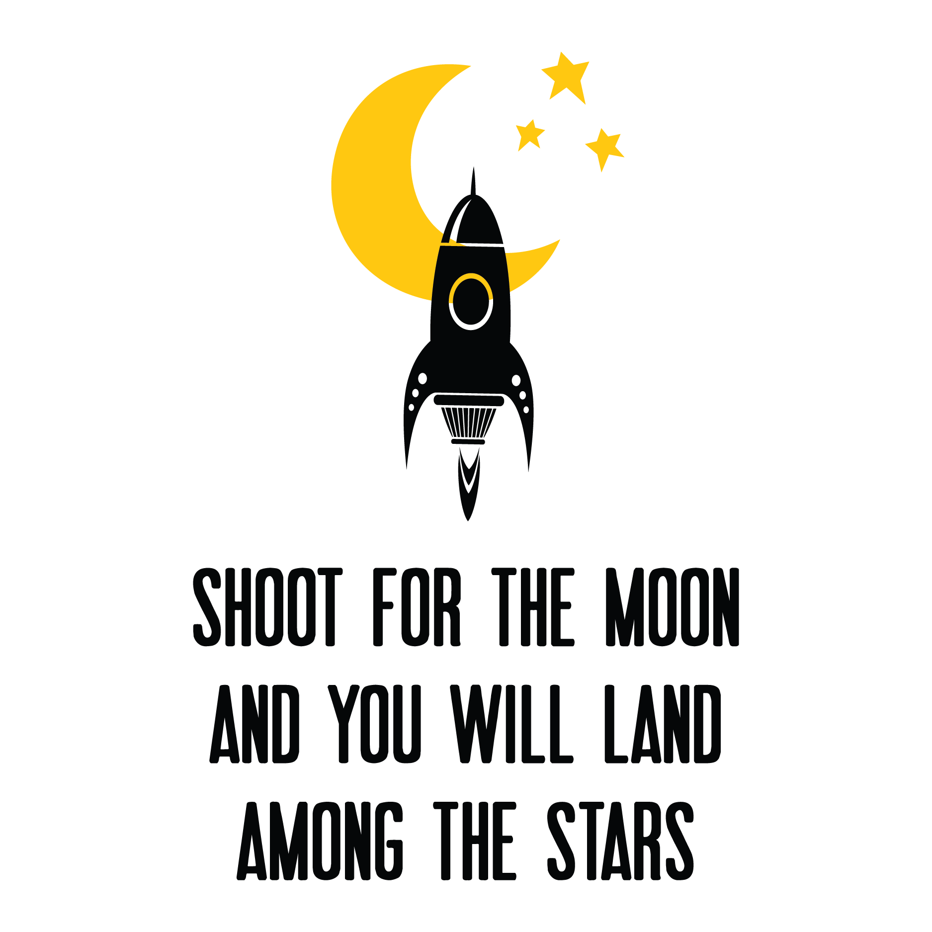 Shoot For The Moon Wall Quotes Decal Wallquotescom