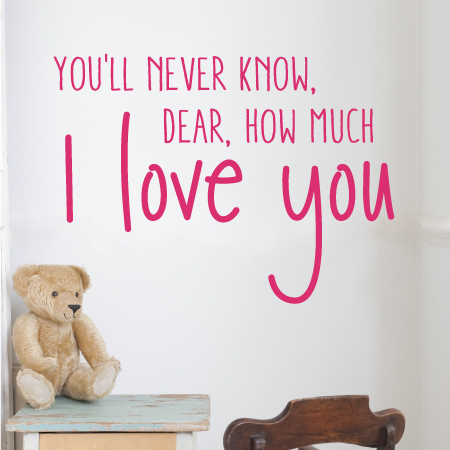 Know How Much I Love You Wall Quotes Decal Wallquotescom