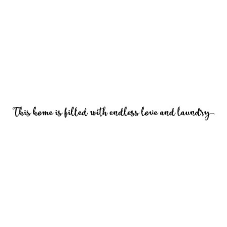 Endless Love Quotes Mesmerizing Endless Love & Laundry Handwritten Wall Quotes™ Decal  Wallquotes