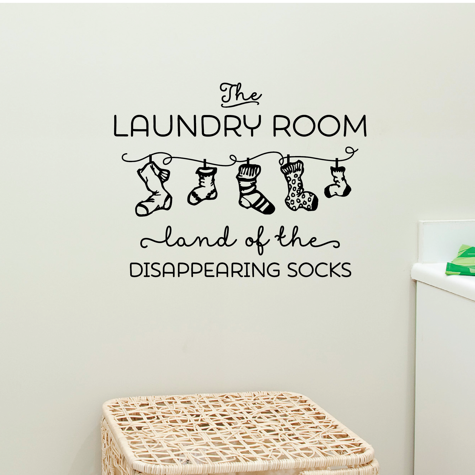 Laundry Room Vinyl Wall Quotes Awesome Land Of Disappearing Socks Wall Quotes™ Decal  Wallquotes Decorating Inspiration