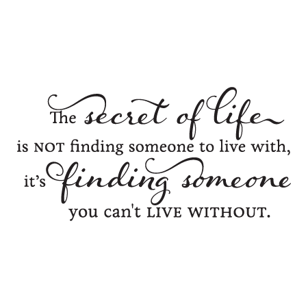 Someone You Can't Live Without Wall Quotes™ Decal | WallQuotes com