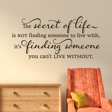 Someone You Cant Live Without Wall Quotes Decal Wallquotescom