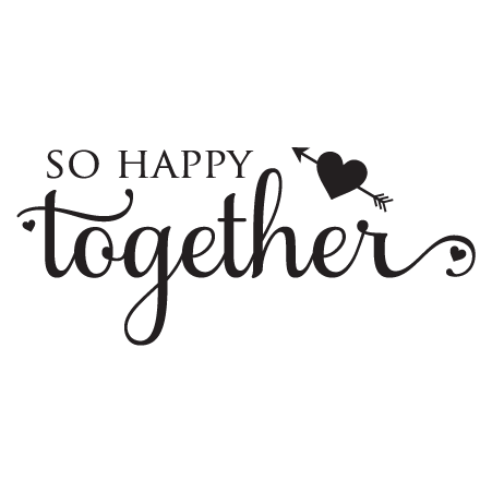 So Happy Quotes Enchanting So Happy Together Wall Quotes™ Decal  Wallquotes