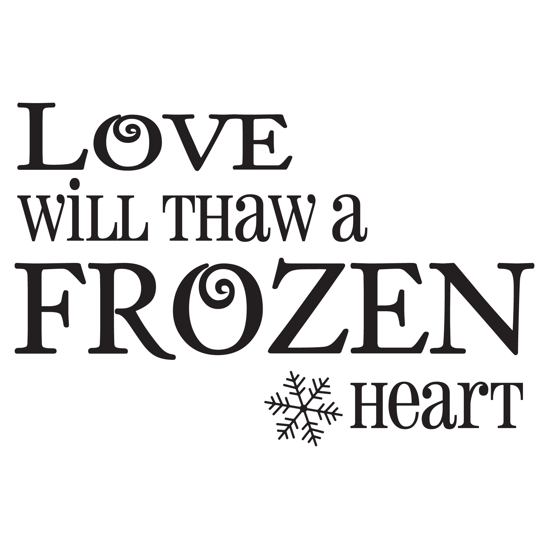 Frozen Heart Wall QuotesTM Decal