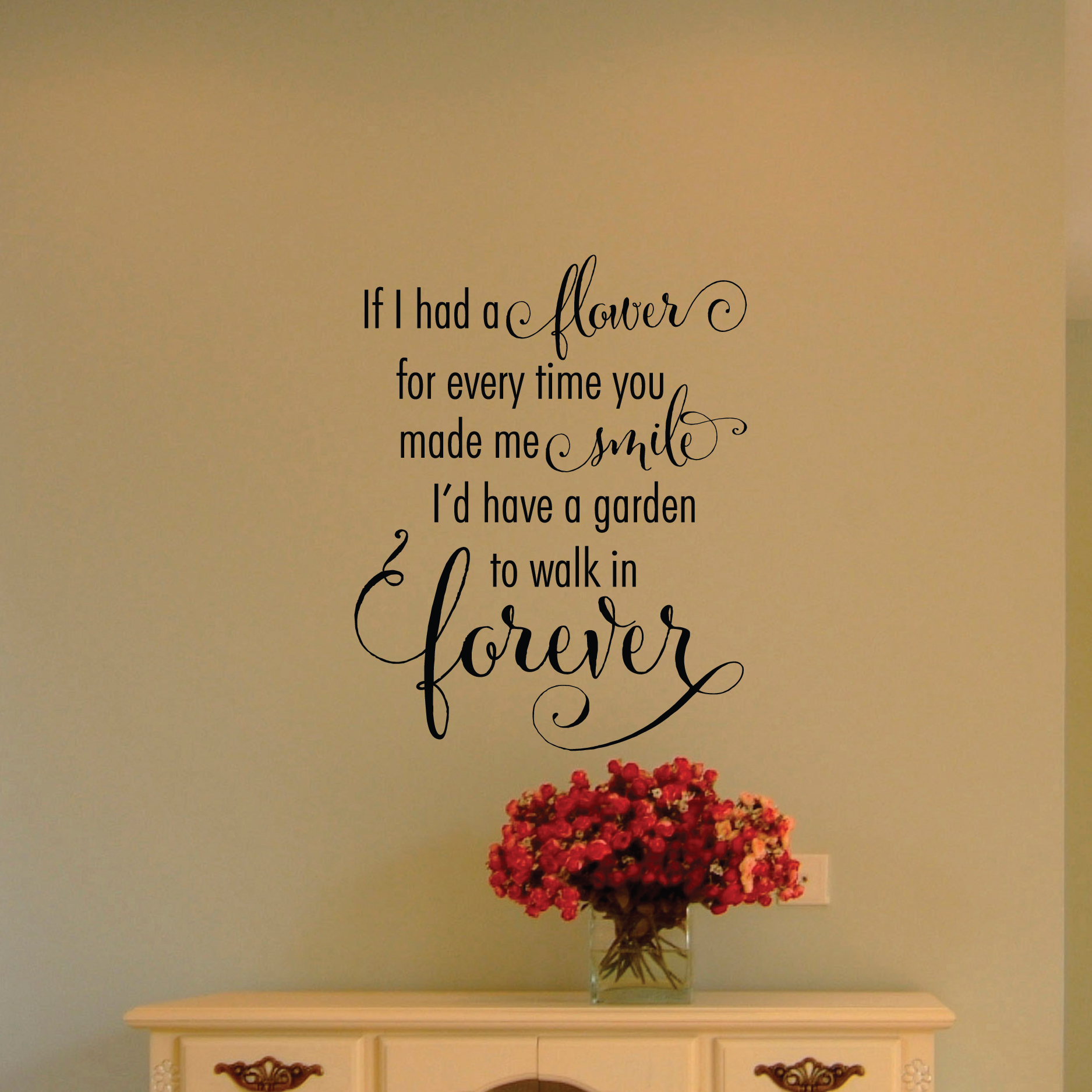 Garden To Walk In Forever Wall Quotes™ Decal | WallQuotes.com