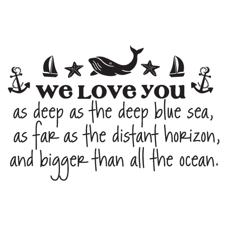 Anchor Love Quotes New We Love You Wall Quotes™ Decal  Wallquotes
