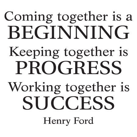 Working Together Is Success Wall Quotes Decal