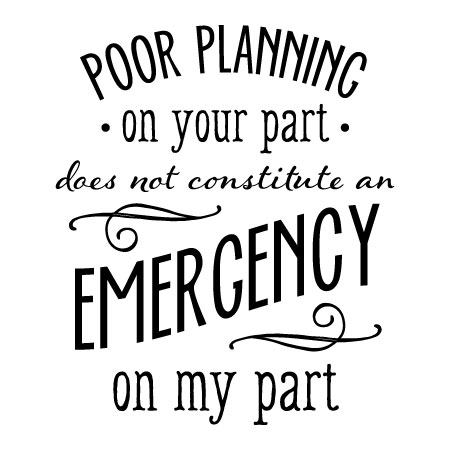 Poor Planning Wall Quotes Decal Wallquotescom