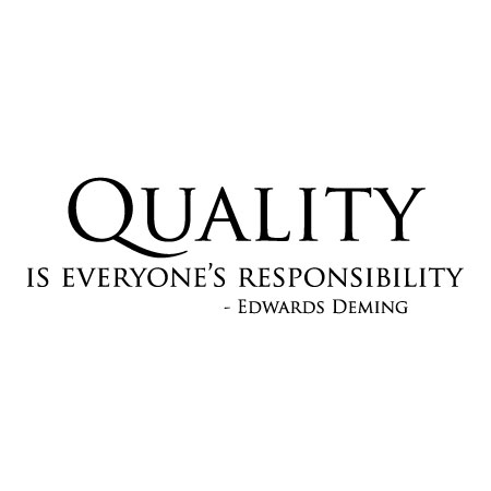 Quotes Quality Adorable Quality Is Everyone's Responsibility Wall Quotes™ Decal
