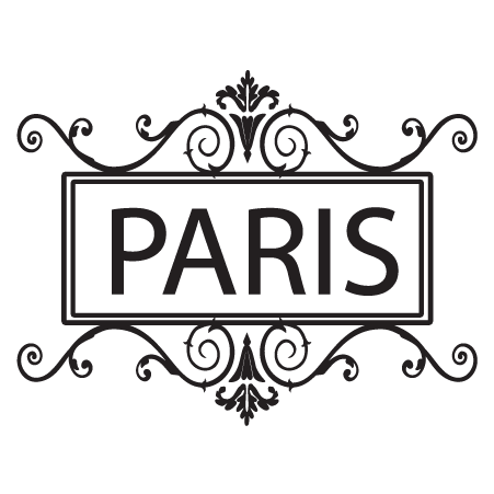 Paris & Ornate Frame Wall Quotes™ Decal | WallQuotes.com