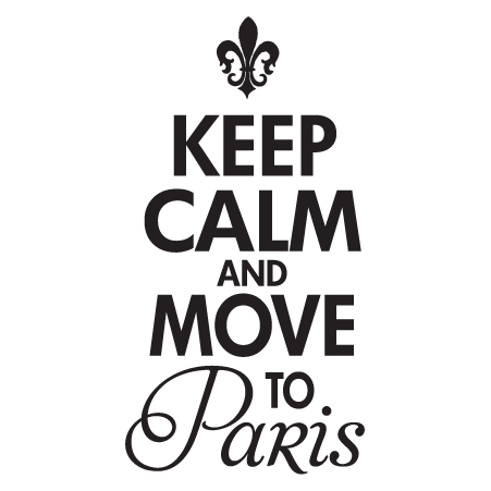 Keep Calm Paris Wall Quotes Decal Wallquotes Com