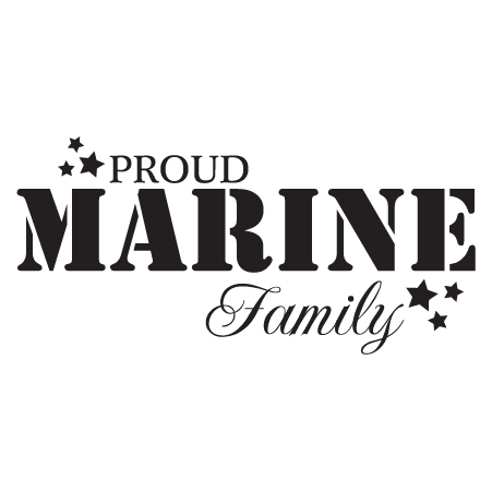 Proud Marine Family Wall Quotes Decal Wallquotes Com
