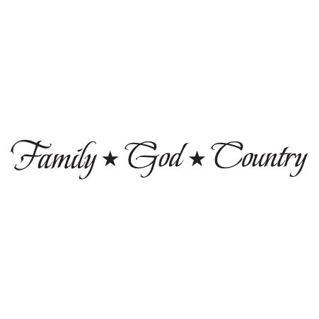 Family God Country Wall Quotes Decal Wallquotes Com