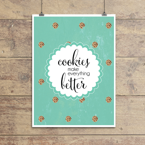Cookies Make Everything Better Wall Quotes Gicl 233 E Art