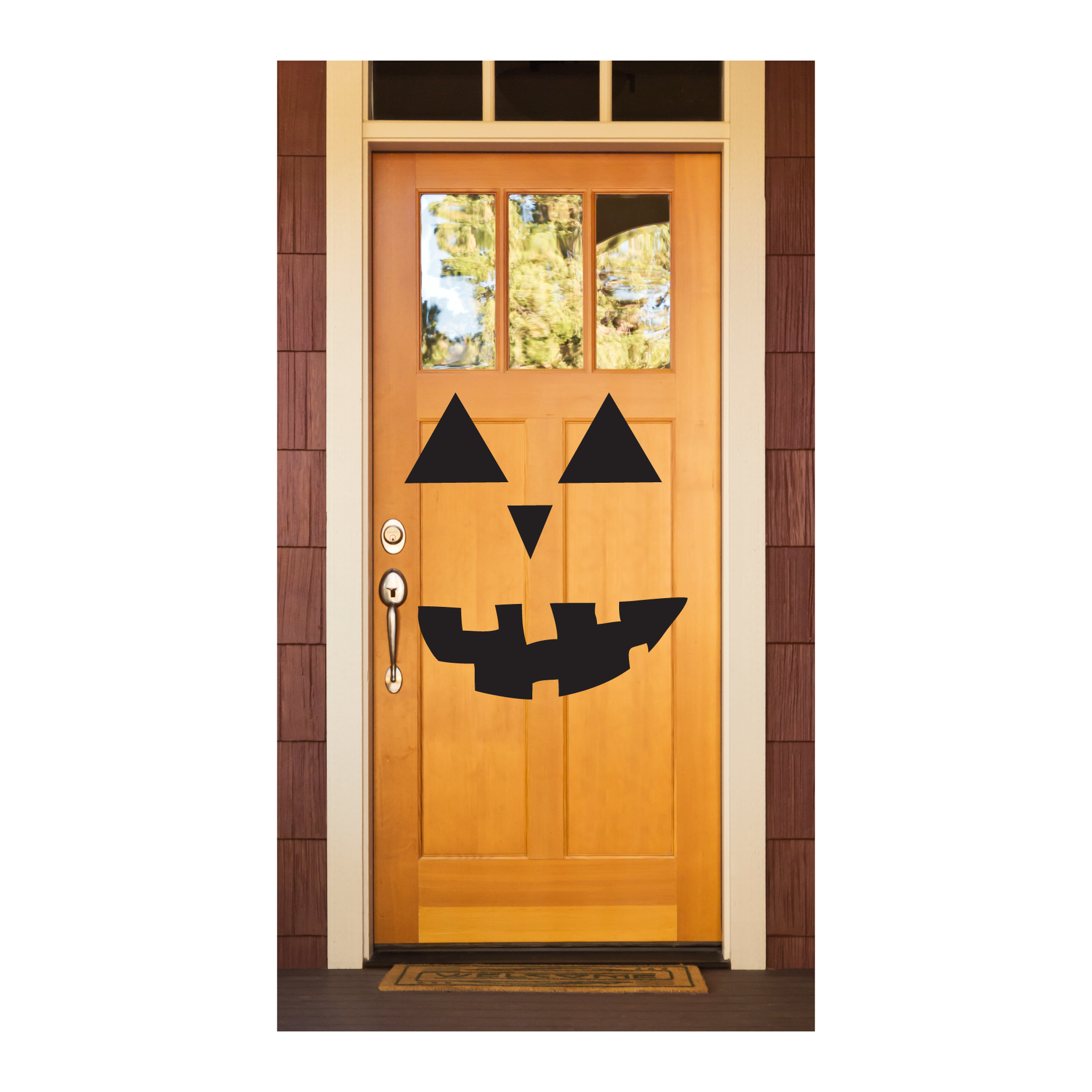 Jack ou0027 lantern Face Door  sc 1 st  WallQuotes.com & Jack Ou0027 Lantern Face Wall Quotes™ Decal | WallQuotes.com