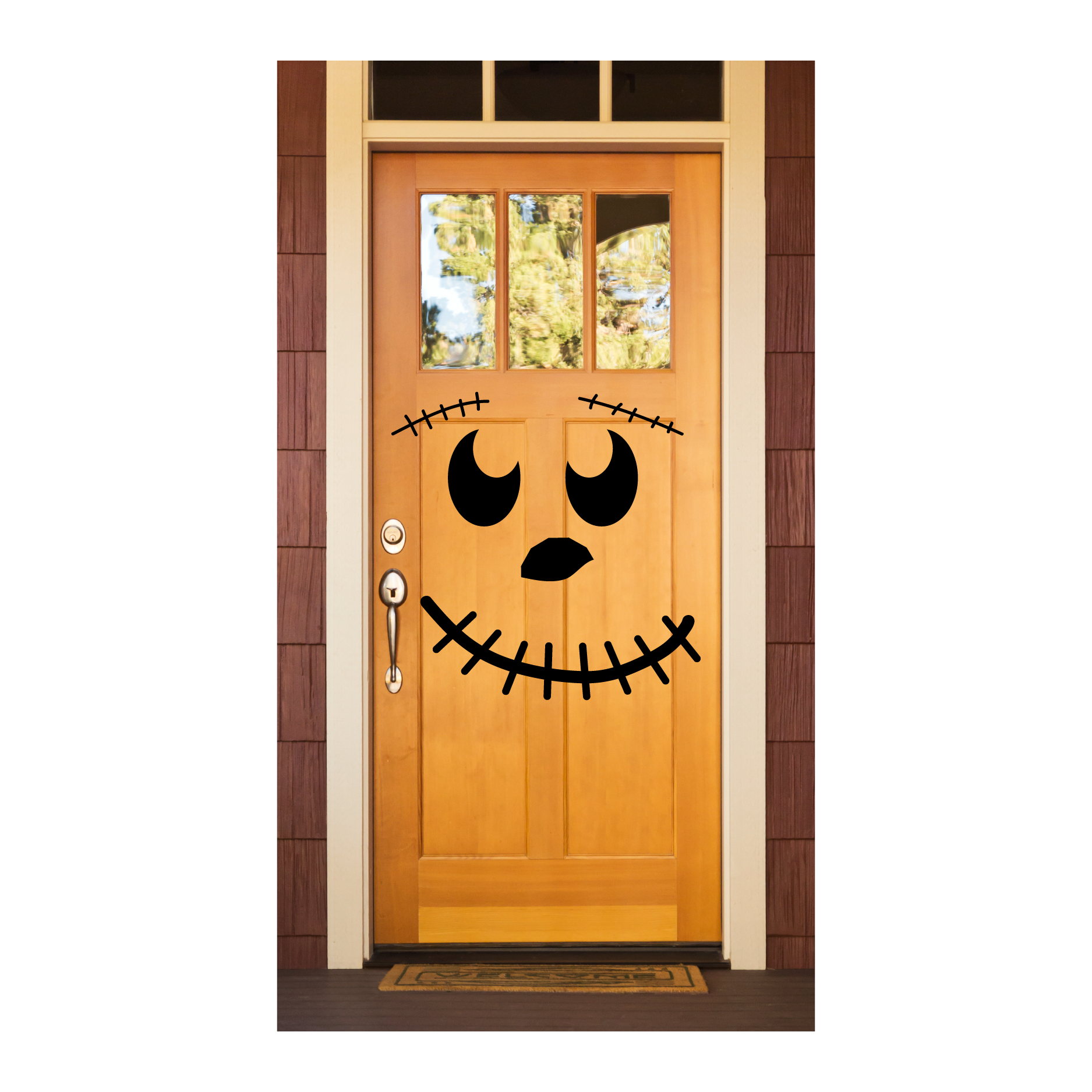 Smiley Pumpkin Face Wall Quotes™ Decal  WallQuotescom ~ 040555_Halloween Door Sayings