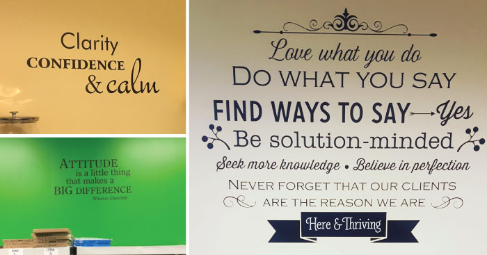 inspiring office Wall Quotes decals
