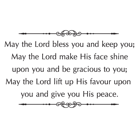 May The Lord Bless You Wall Quotes Decal Wallquotes Com