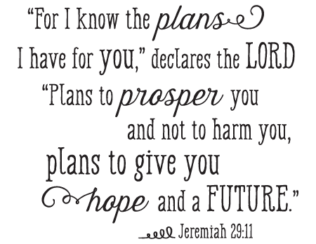 I Know The Plans I Have For You Wall Quotes Decal Wallquotescom
